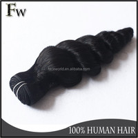 Wholesale high quality remy peruvian human hair extension unprocessed virgin hair