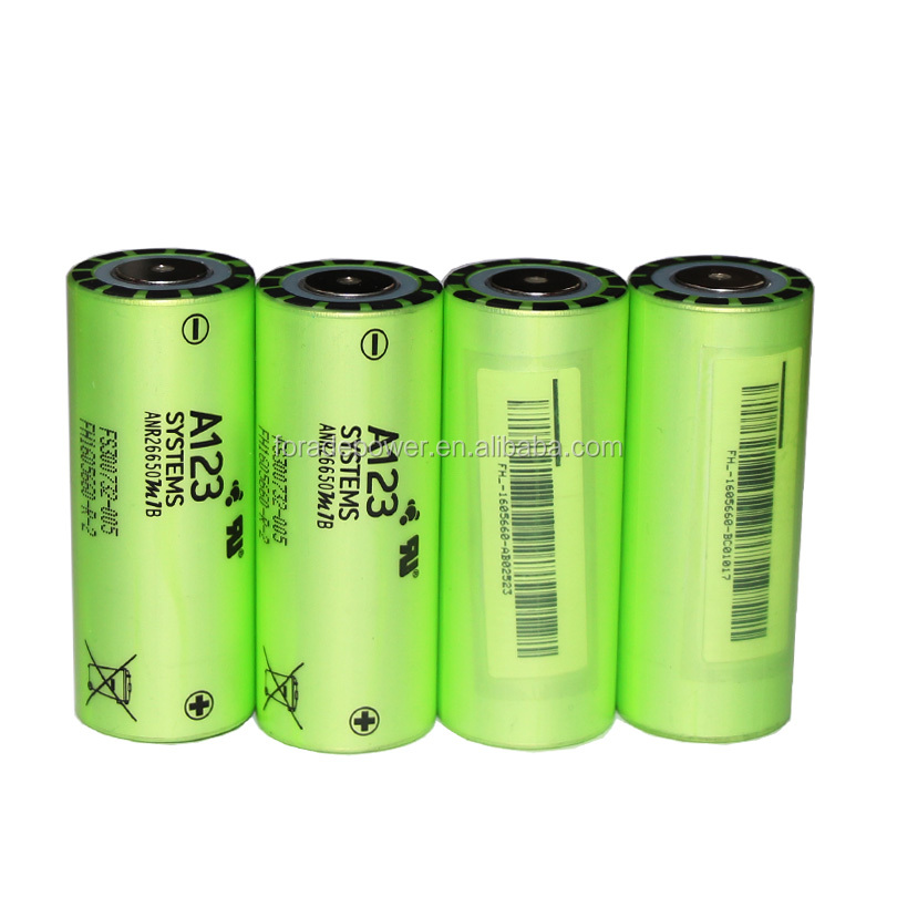 Original New A123 3.2V LiFePO4 ARN26650M1B 26650 2500mah High Drain 30C 70A Discharge Battery