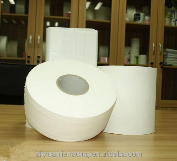Virgin Wood Pulp 1 Ply embossed jumbo roll toilet paper tissue paper cow toilet paper holder