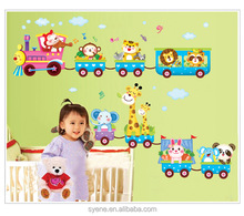 kids room wall decals wall designs for living room cute train cartoon tree wall decals for nursery baby room homedecor wallpaper