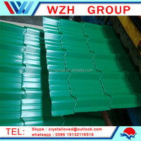 High Qualiy types of Color Coated Zinc Corrugated Metal Roof tiles/ galvanized metal roofing sheet from china supplier