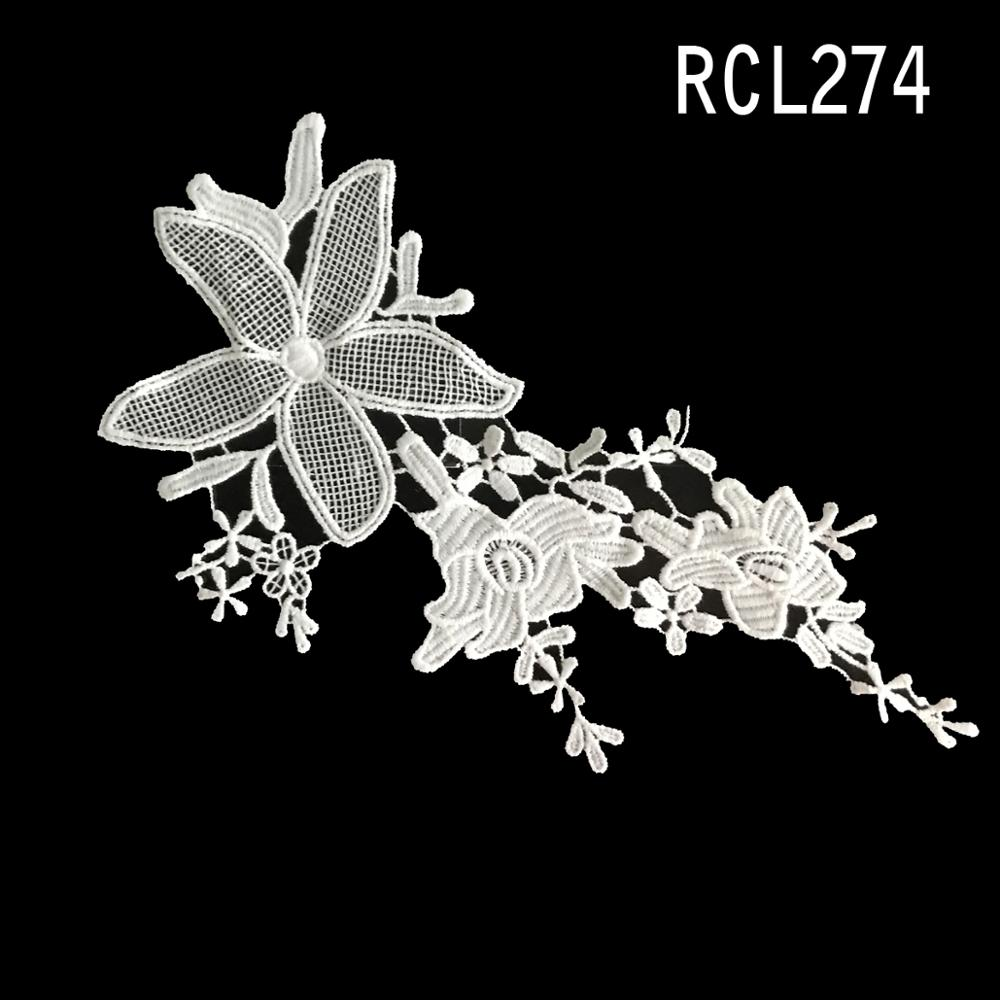 guipure lace 3d flower applique embroidery