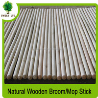 Natural wooden broom pole with very good qualiry