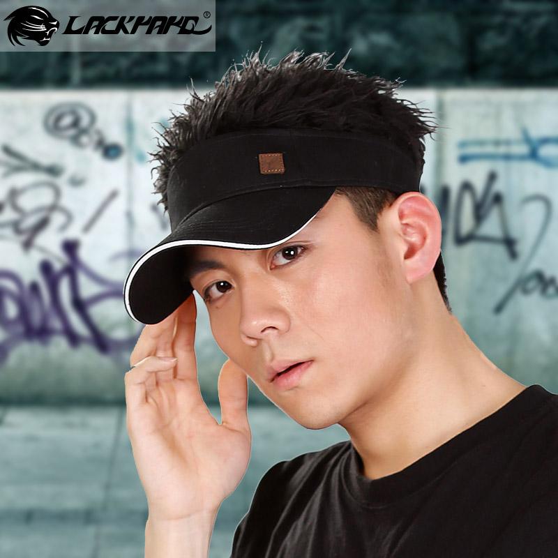 cosplay fashion fake hair sports visor cap and hat