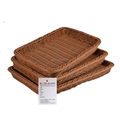 Hot sale high quality household handmade plastic rattan storage basket food display unit