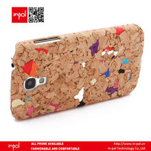 Wholesale price Recycled wine cork cell phone cover case for samsung galaxy s4