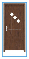 promotion good sale interior wood toilet pvc door, pvc wooden door
