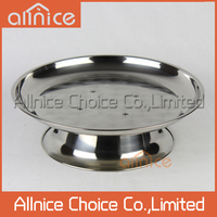 Allnice 30cm-60cm wholesale Middle East style SS201 stainless steel fruit tray/unique design serving tray