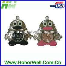 Metal Watch Penguin Usb Drive Pendrive Flash For Kids Presents Gifts