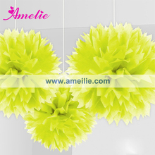 AF958 Yellow handmade mulberry paper flowers