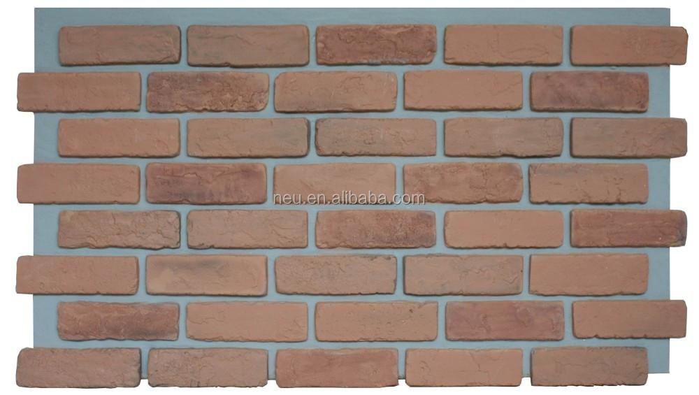 Faux mur de briques panneau polyur thane panneau mural d coratif rev tement - Panneau brique decorative ...