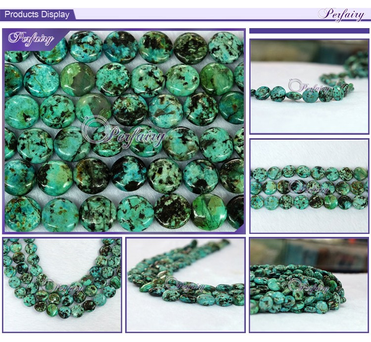 guagnzhou natural wholesale gemstone coin green turquoise bead bulk turquoise stone