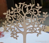 Wood Crafts Blank Wooden Tree Embellishments for DIY Crafts Embellishments