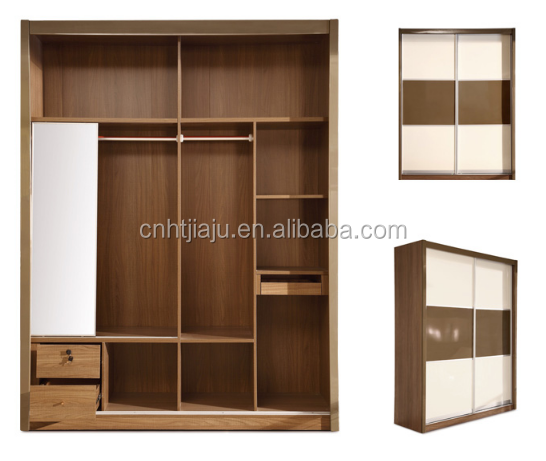Two simple wardrobe sliding door closet , whole bedroom furniture