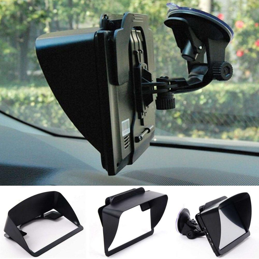 "Auto Car 6-7"" GPS Sun Shade Visor Screen Shield Reflection Resist Black Clip"