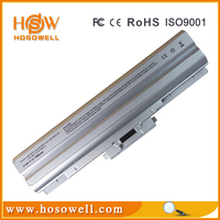 High capacity laptop battery VGP-BPS13/S Silver Without CD 7800mah