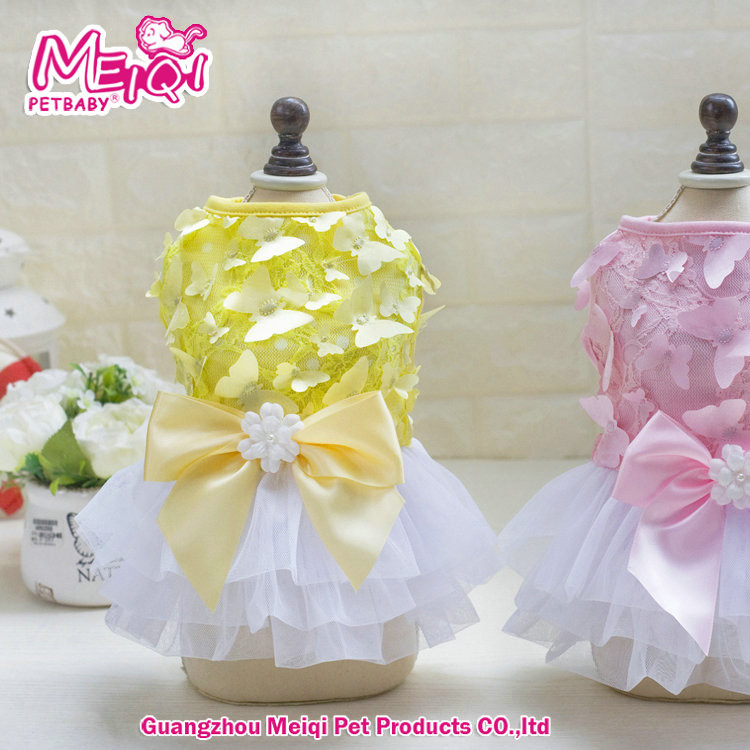 Hot selling pet dog and cat clothes butterfly princess dress pet summer dress