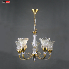 Decorative luxury french gold hotel iron modern egyptian crystal led chandelier lamp