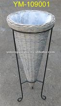 wicker rattan decoration vase wicker basket decor vase