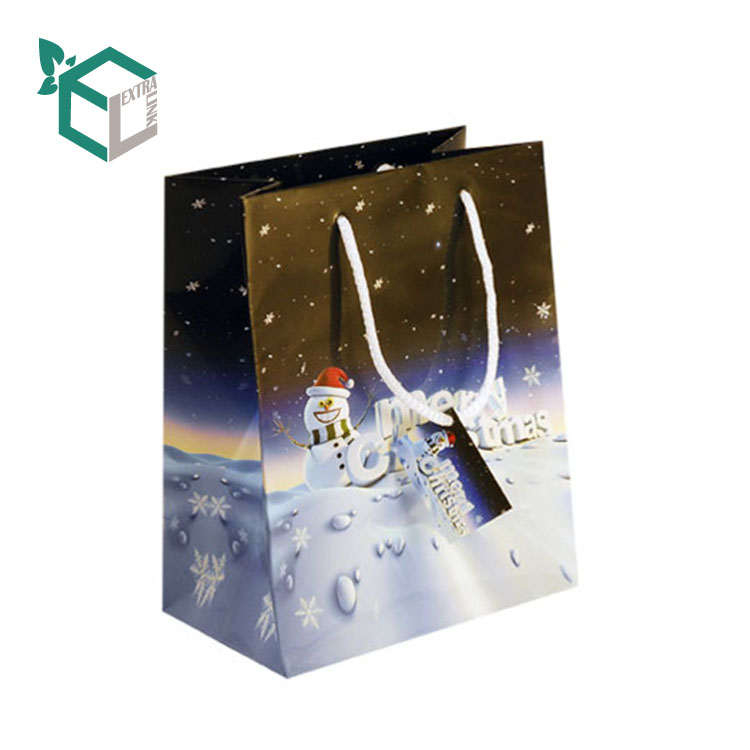 Customized Printed Christmas Theme Gift Bags