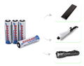 Rechargeable 2600mAh 1.2v AA NIMH Battery for Flashlights