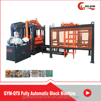 guangzhou QT8-15 concrete block machine line Congo concrete block machine Congo concrete block machine Congo price