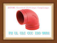 China FM UL ISO9001 CCC Grooved Pipe Elbow Fittings For Fire Sprinkler System