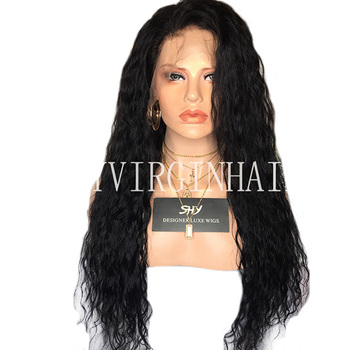 Water Wave Natural Human Hair Wigs Lace Front Wigs For Black Women