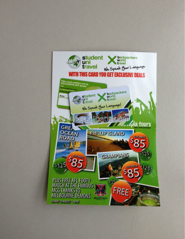 Colorful printing paper flyer