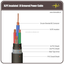 stranded copper conductor XLPE insulated PVC sheathed steel tape armoured power cable