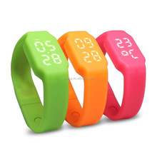 Factory price custom logo silicone led wristband watch with 8GB usb flash driver