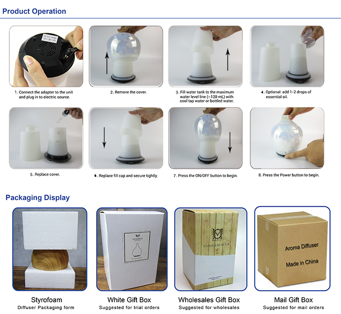 Eco-friendly Ultrasonic Aroma Diffuser Mosaic Electronic Aroma Diffuser In Air Fresheners Essential Oil Diffuser