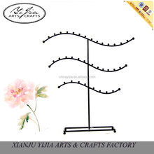 Decoration 3 tiers metal wave jewelry display tray