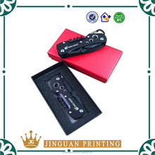 Luxury customized printing high quality cardboard packaging pocket knife gift box