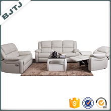 BJTJ white PU leather recliner small sectional sofa sets 70576