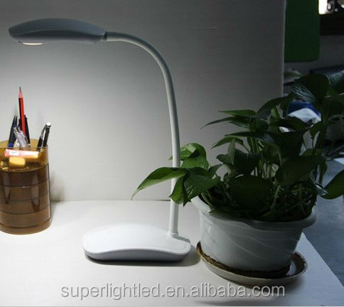 Flexible eye-protection mouse led desk lamp with battery for students