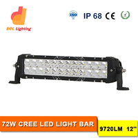 wholesale led light bar 72w Crees off road led light 12v double row offroad led light bar