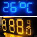 wholesale red color glaring led price screen for gas station