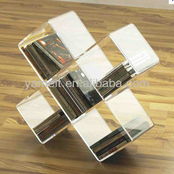 Latest Design High Quality Acrylic CD Rack