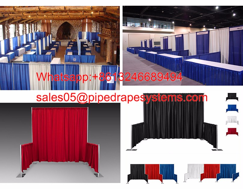 Wholesale pipe and drapes trade show booth for exhibition China manufacturer