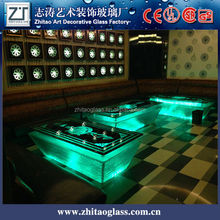 delicacy glass furniture LED japanese dining table