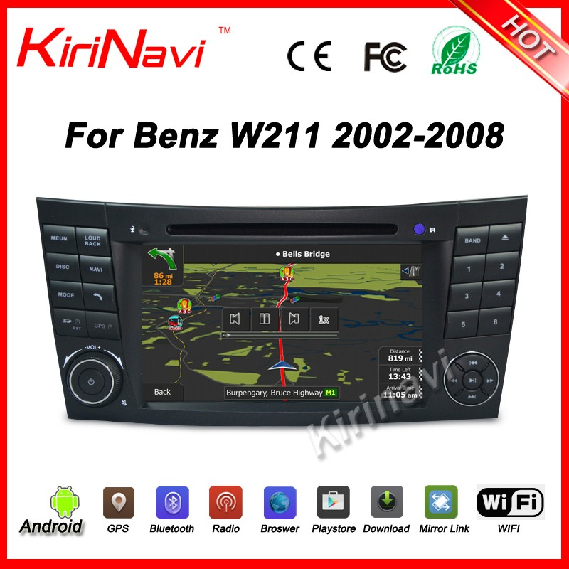 Kirinavi WC-MB7501 Android 5.1 multimedia system car dvd with bluetooth for mercedes w211 2002-2008 dvd gps wifi 3g playstore