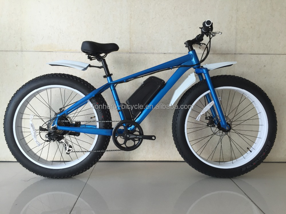 blue 26 inch alloy frame 4.0 inch fat tire electric bike