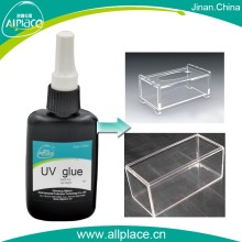 Anti yellow liquid uv curing adhesive glue on acrylic sheet