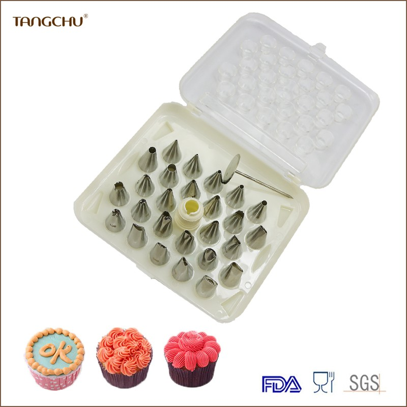26pcs different shapes cake decorating nozzles/pastry icing nozzles