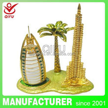 dubai tower souvenir metal fair and lovely wedding souvenirs favor box gift (QF3185-002)
