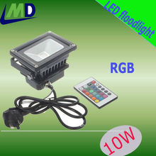Hot selling 10W RGB high Power wireless remote control outdoor led flood lights