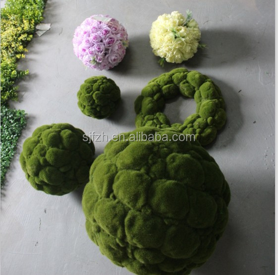 Wholesale artificial decorative artificial green moss