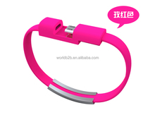 20CM Colorful Micro USB 2.0 Data Sync Charger Wrist Bracelet Cable usb smart data cable