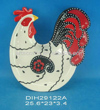 Easter rooster shaped plate
